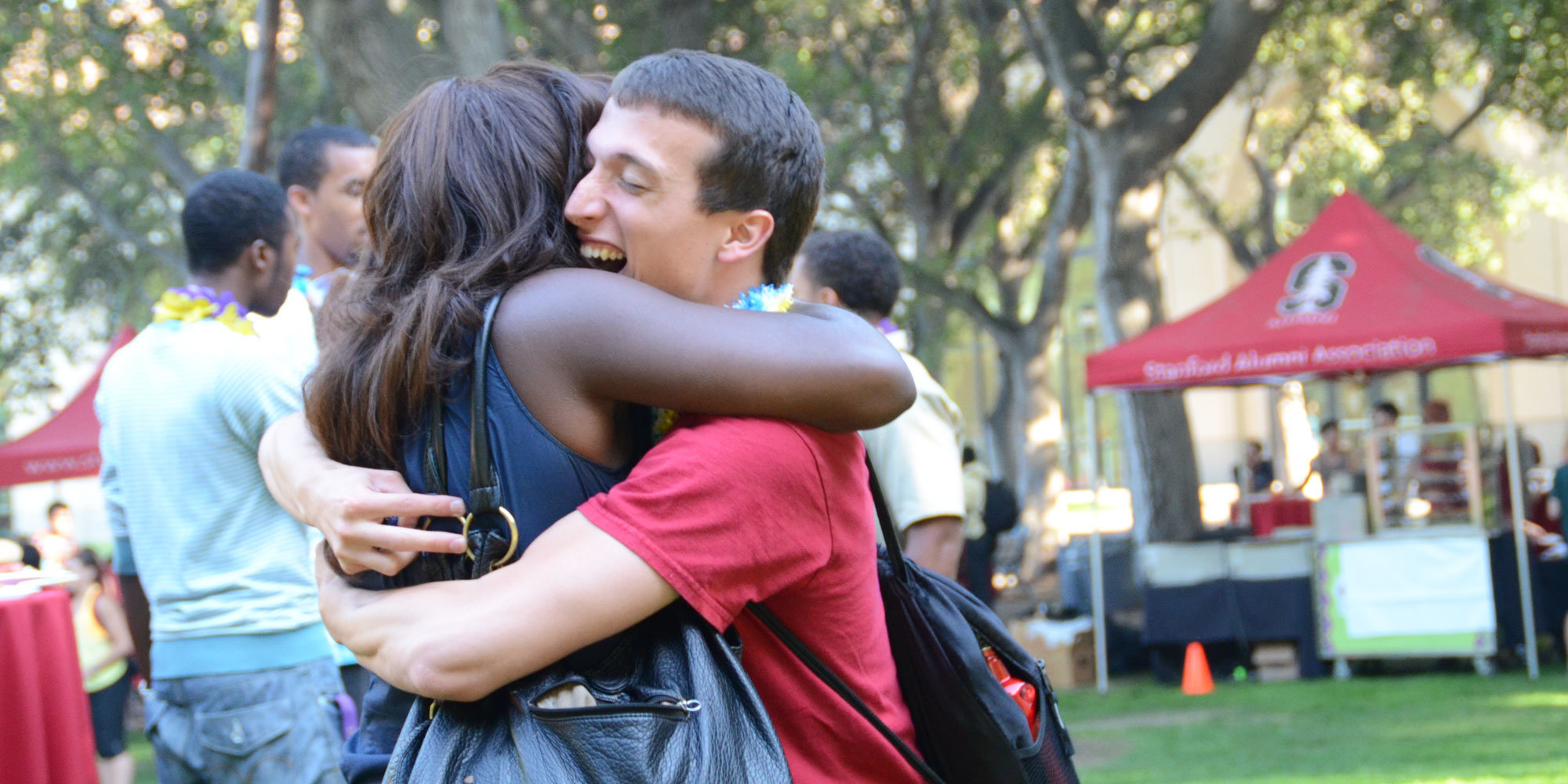 Image of students hugging